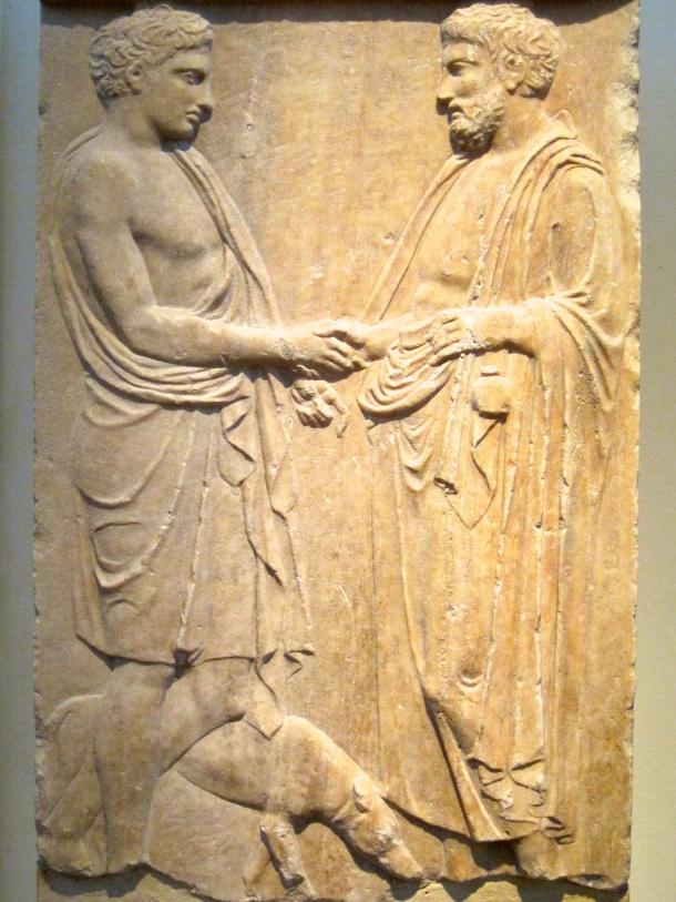 Greek gravestone