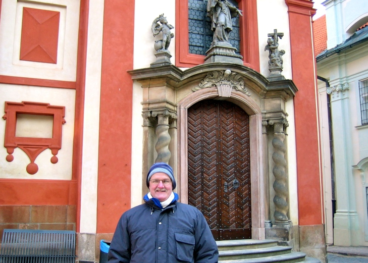 Prague J bundled up