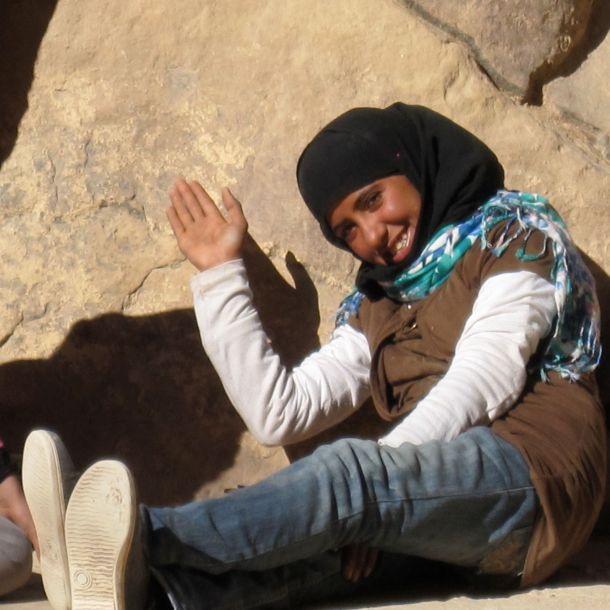 7 Waving Beduoin Girl