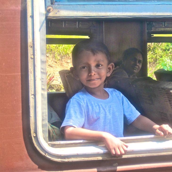 Boy on train