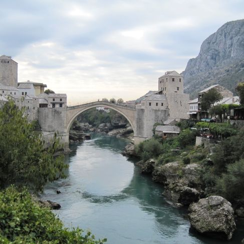 Stari Most Bridge in Mostar, Bosnia.