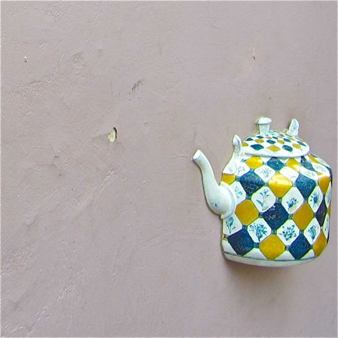 Blue & Yellow Teapot