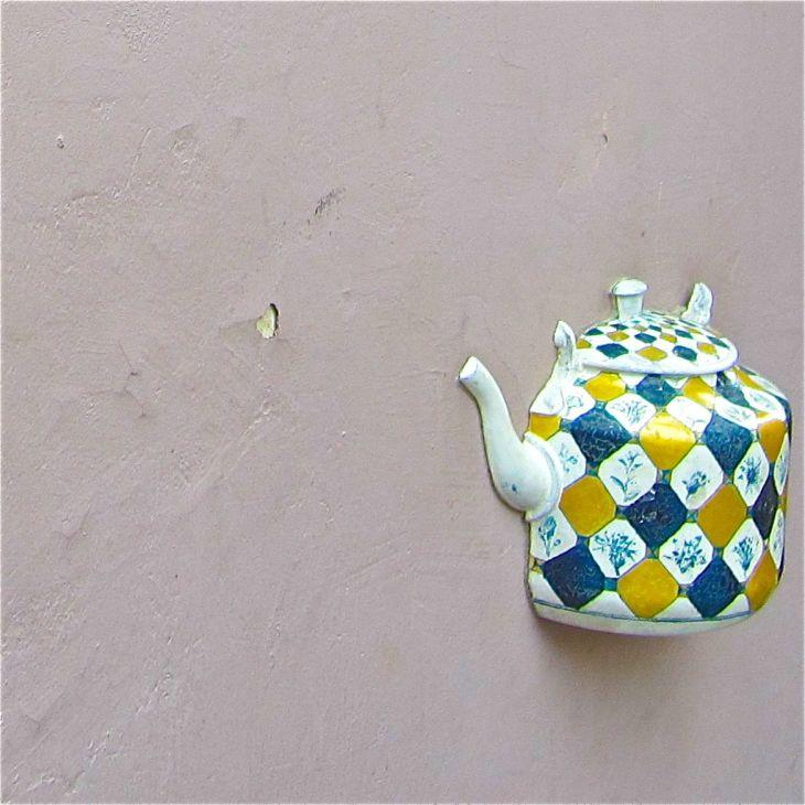 Blue & Yellow Teapot