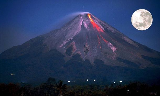 Mt Merapi Flowing