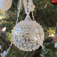 Bubble Ball. For our 1st Christmas in Dallas, James gave me this stunning crystal ball. It's the definition of simple elegance.