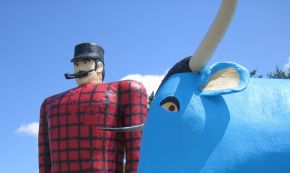 Bemidji's Big Boy and Blue Bovine