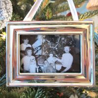 The Sisters. I cherish this photo of the first Christmas for all 4 Sisters together. And Santa brought me a guitar!