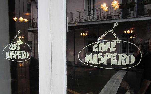 Cafe Maspero Sign