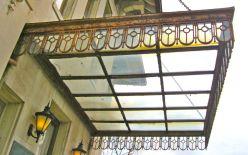 Glass awning