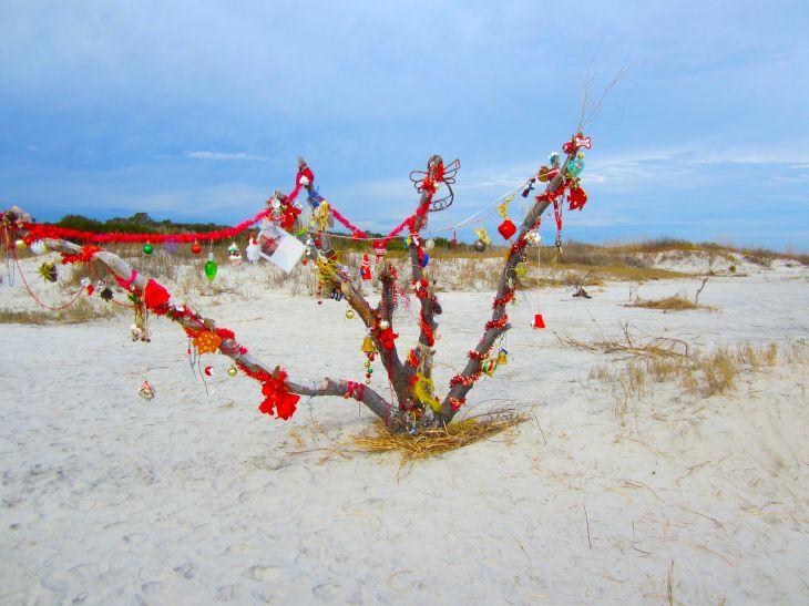 Beach Tree at Christmas