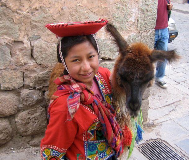 Girl with Llama Fi