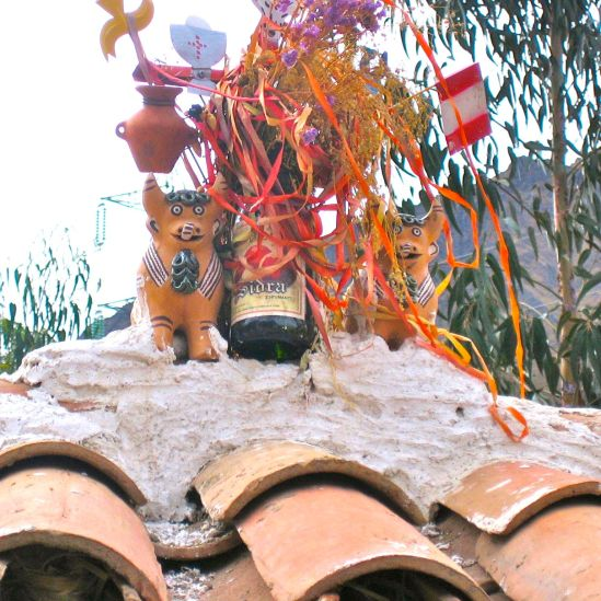Oxen on Roof