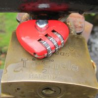 Red Combo Lock