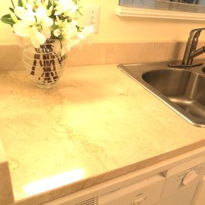 Letters From Basecamp Gallivance: The New Countertop is Marbelous!