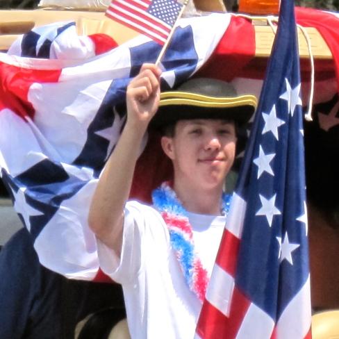 Flag waver