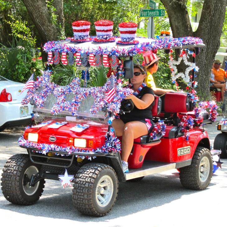 Patriotic cart