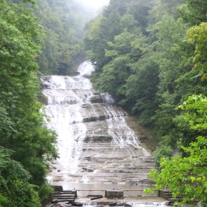 A Misty Morning At Buttermilk Falls