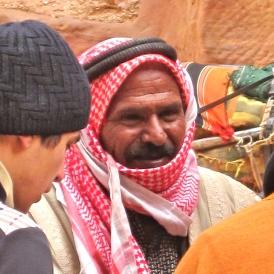 Red Keffiyeh, Petra