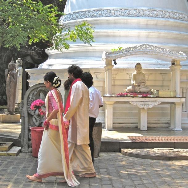 White Buddhist Wedding, Colombo Sri Lanka