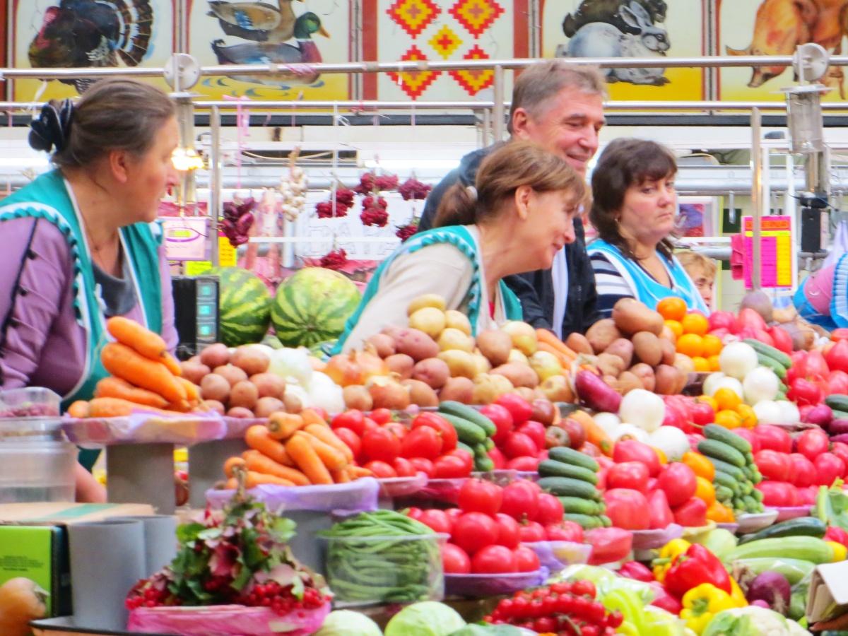Kyiv's Besarabsky Market: Gude Deescount Prices