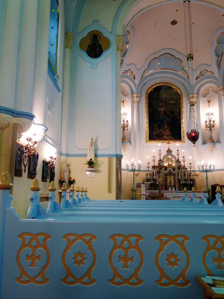 Blue Church Interior