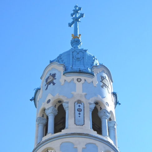 Blue Church Steeple