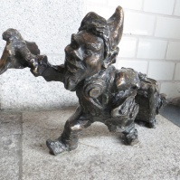 Luggage Puller - a Railway Dwarf with his rolling backpack