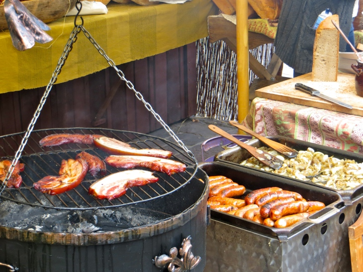 Sausage and Bacon Grilling