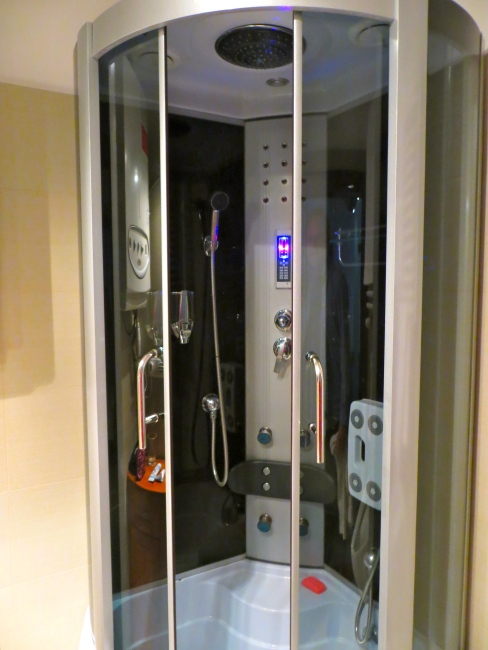 Space-age shower