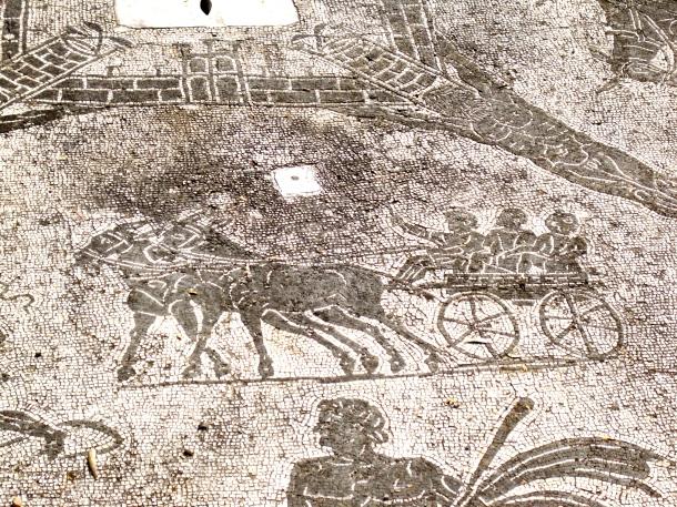 Cart Driver mosaic