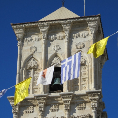 Church with flags