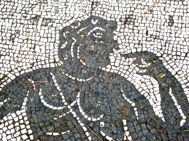 Man pointing mosaic
