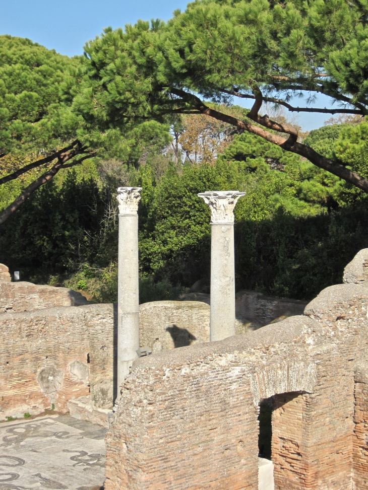 Pillars and mosaics