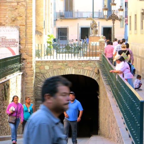 Guanajuato Tunnel w Pedestrians