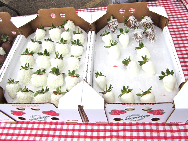 White Chocolate Strawberries