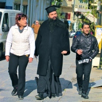 Orthodox priest w friends