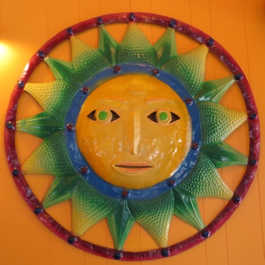 Mexican sun art fits right in.