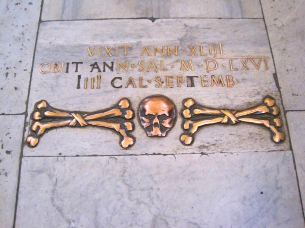 Skull and Crossbones in floor