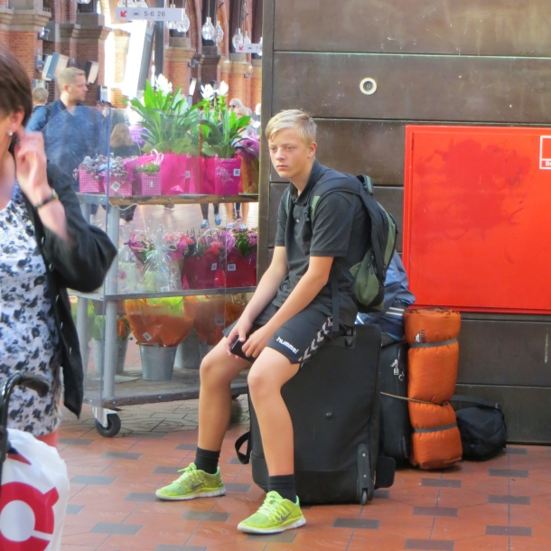 Jet-lagged Train rider