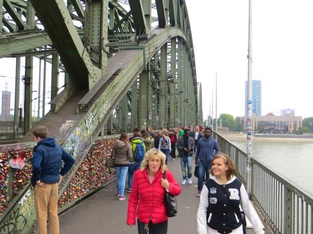 Heavy Footraffic on Bridge