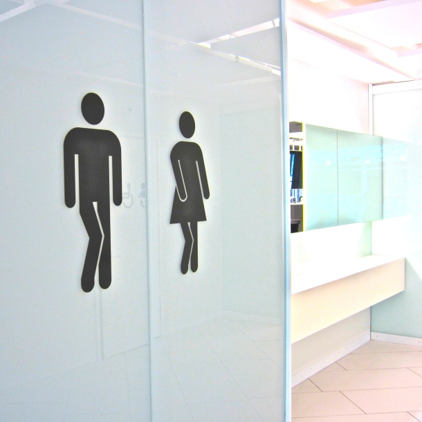 Helsinki Bathroom Sign