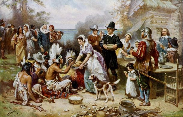 The_First_Thanksgiving by Jean Leon Gerome Ferris