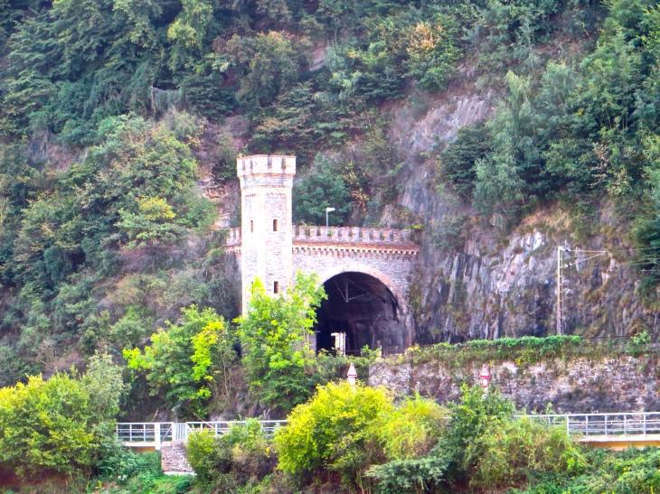 Train Tunnel Through Mountain