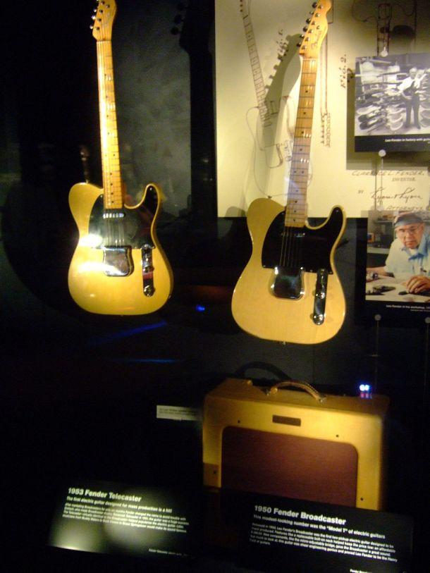 Fender_Broadcaster_(1950),_Fender_Telecaster_(1953),_EMP_Museum