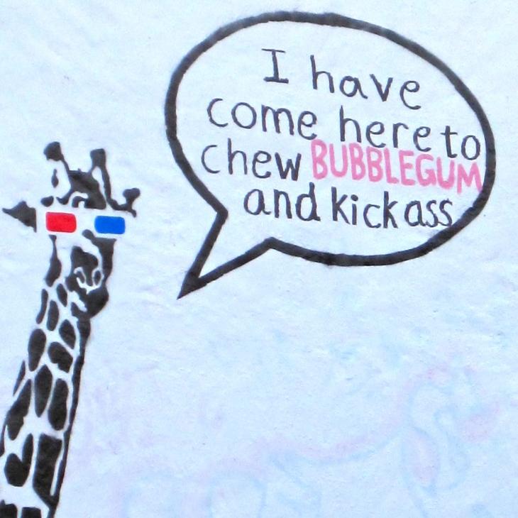 Kickass Giraffe