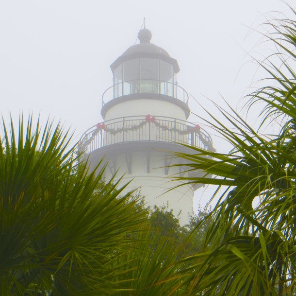 Lighthouse through the fog