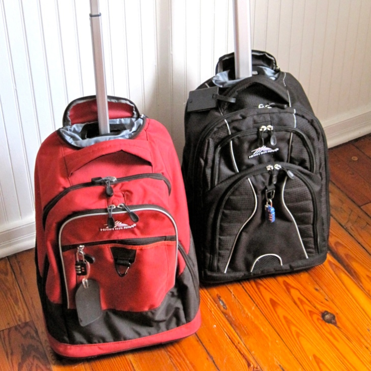 Our Rolling Backpacks