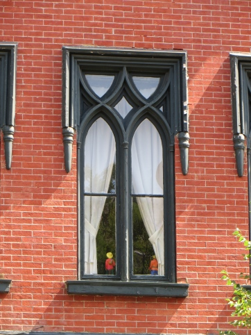 Window set in brick