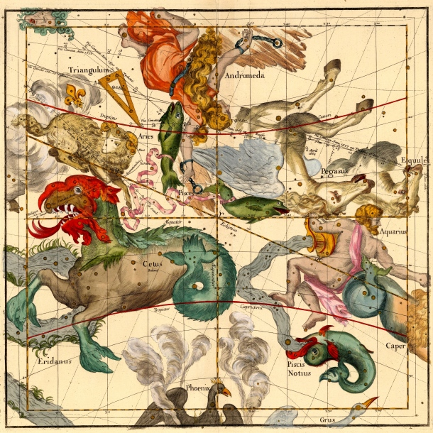 """Celestial Atlas by Ignace Gaston Pardies, published in 1693. This is 1 of 6 pages and is: """"one of the most stunning"""