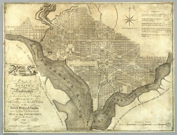Plan of washington, DC 1795